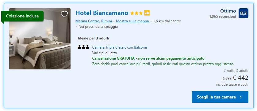 Estate a Rimini: 7 notti in Hotel 3* con colazione da 147€