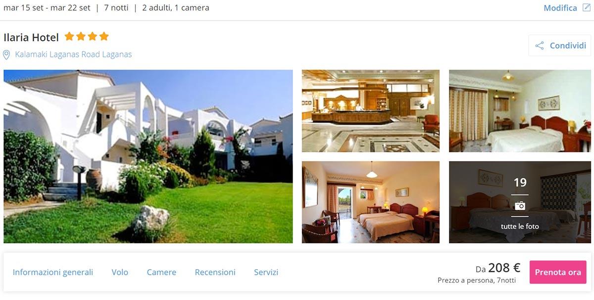 Zante Low Cost: Volo a/r + 7 notti in hotel 4* da 208€