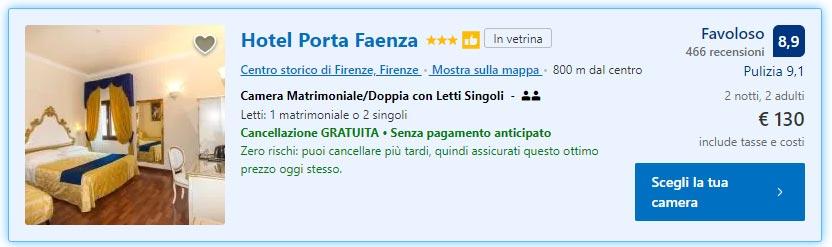 Weekend a Firenze: 2 notti in Hotel 3* da 65€